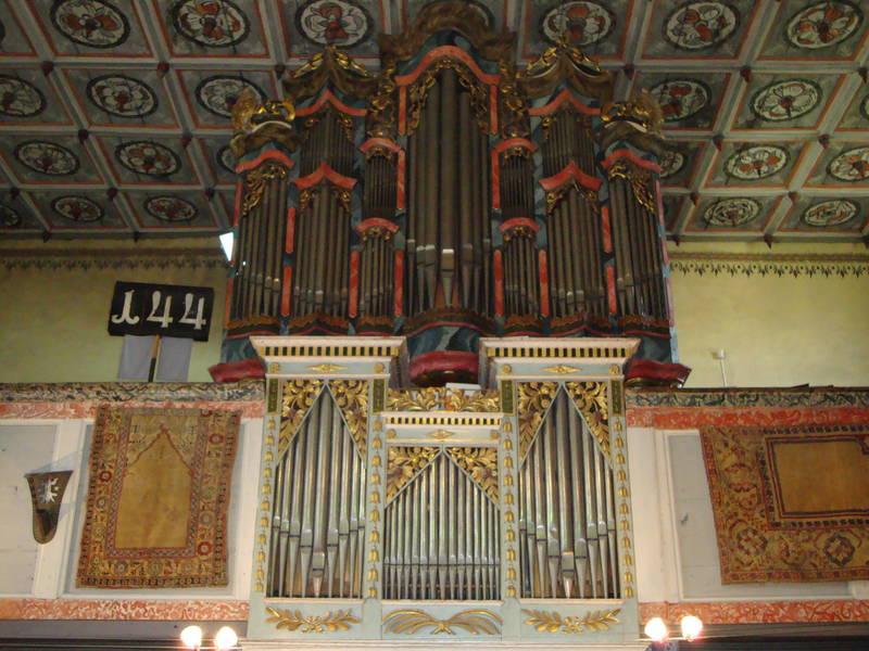Barocker Prospekt der Prause Orgel